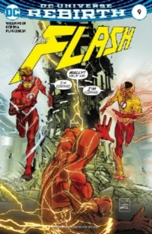 "Mark's pick this week is ""The Flash"" (#9).  The cover is reminiscent of ""Flash of Two Worlds"" but featuring both Wallys/Kid Flashes."
