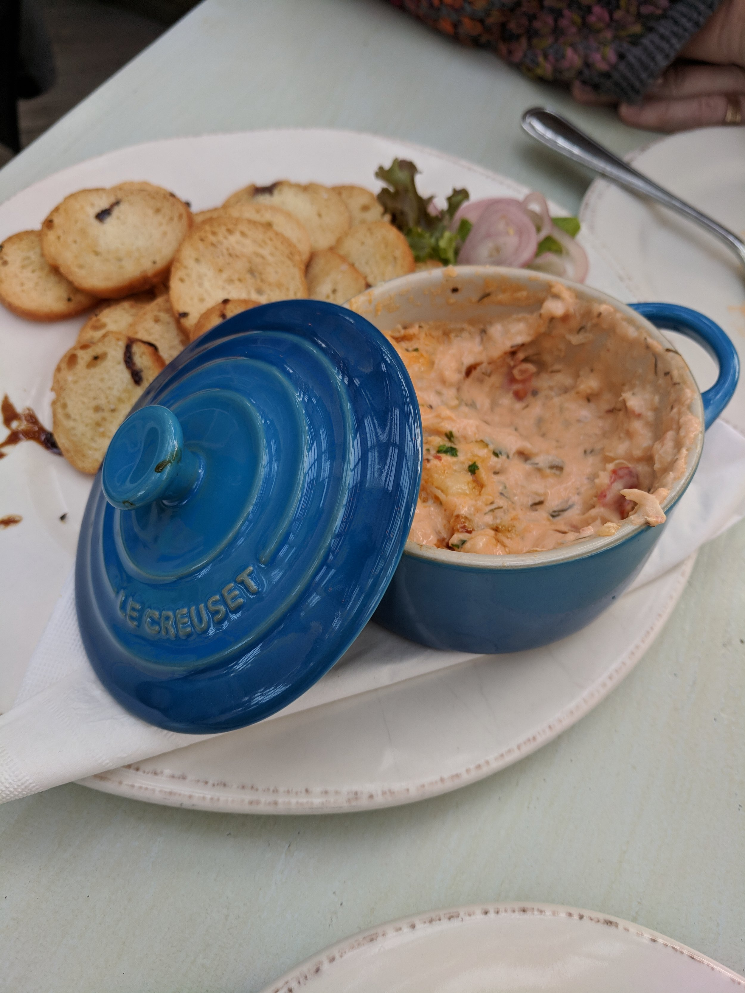 We shared the Lobster dip