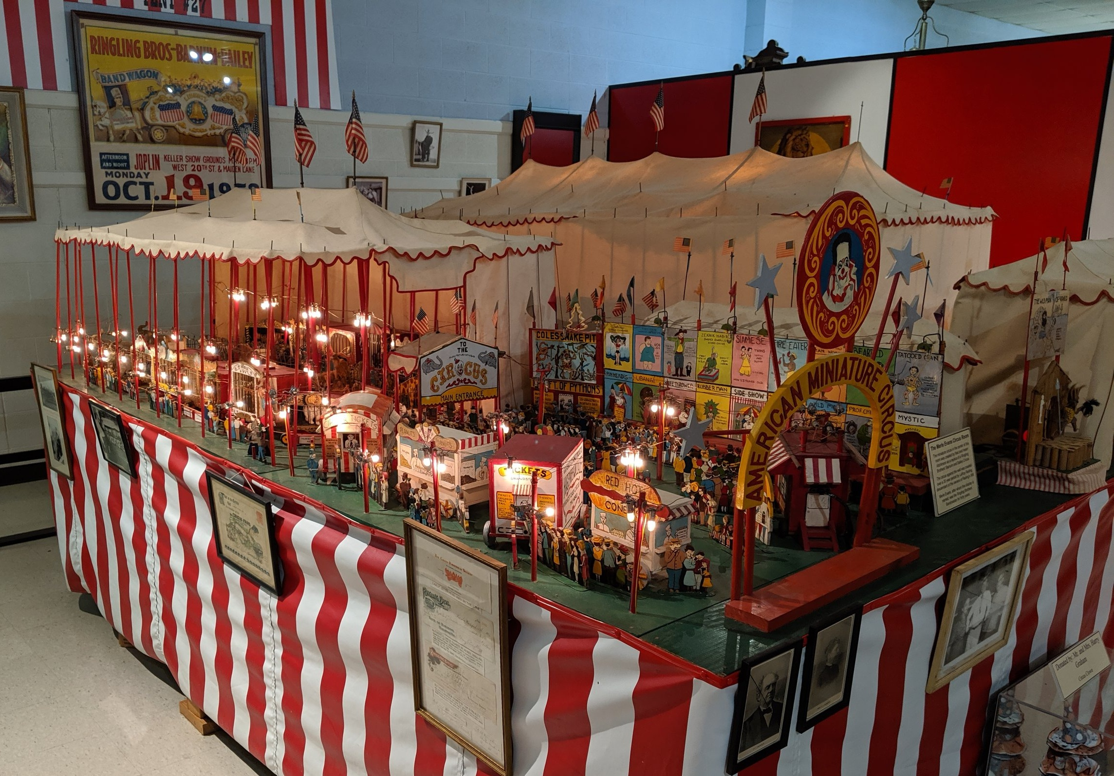 There's a miniature circus exhibit and the…