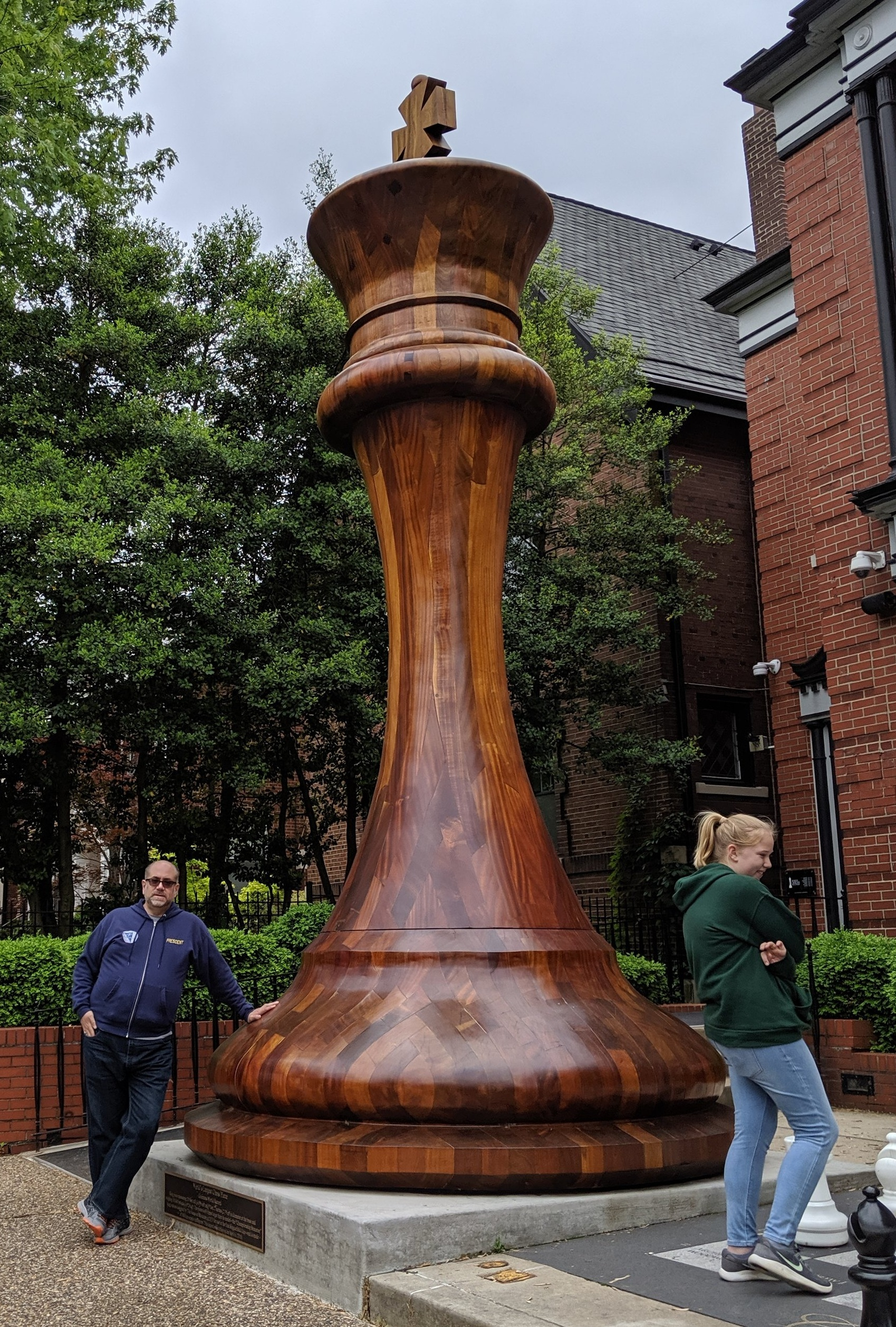 Here's the world's largest chess piece, outside the Chess Hall of Fame in St. Louis.