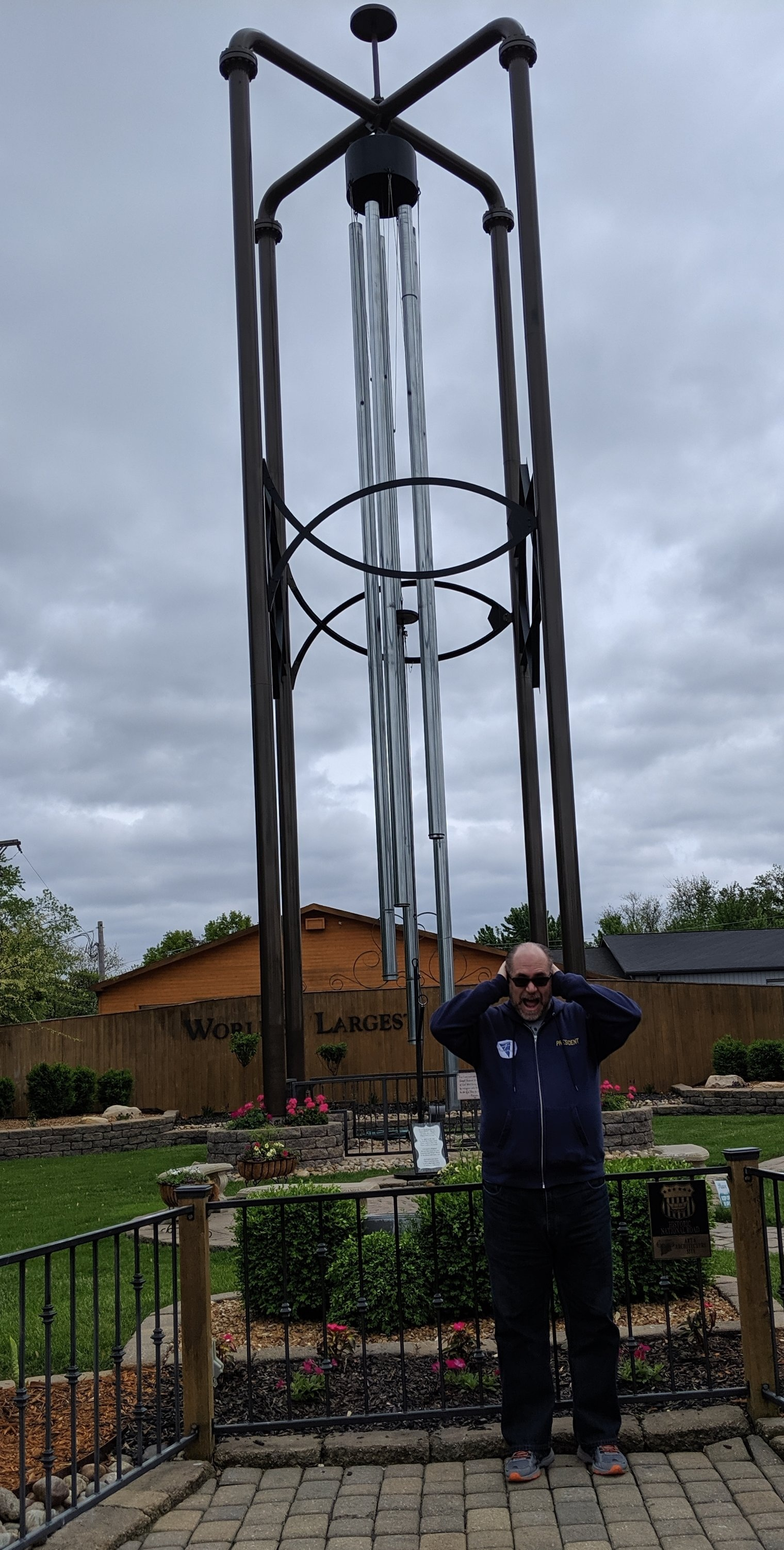 The world's largest FUNCTIONING wind chime.