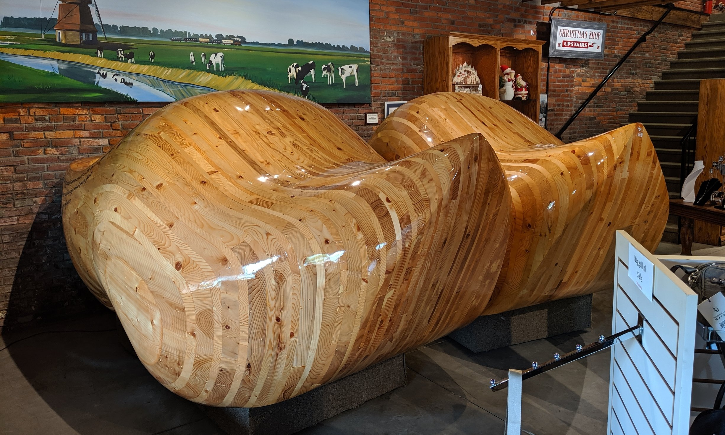 The world's largest (non-wearable) wooden shoes.