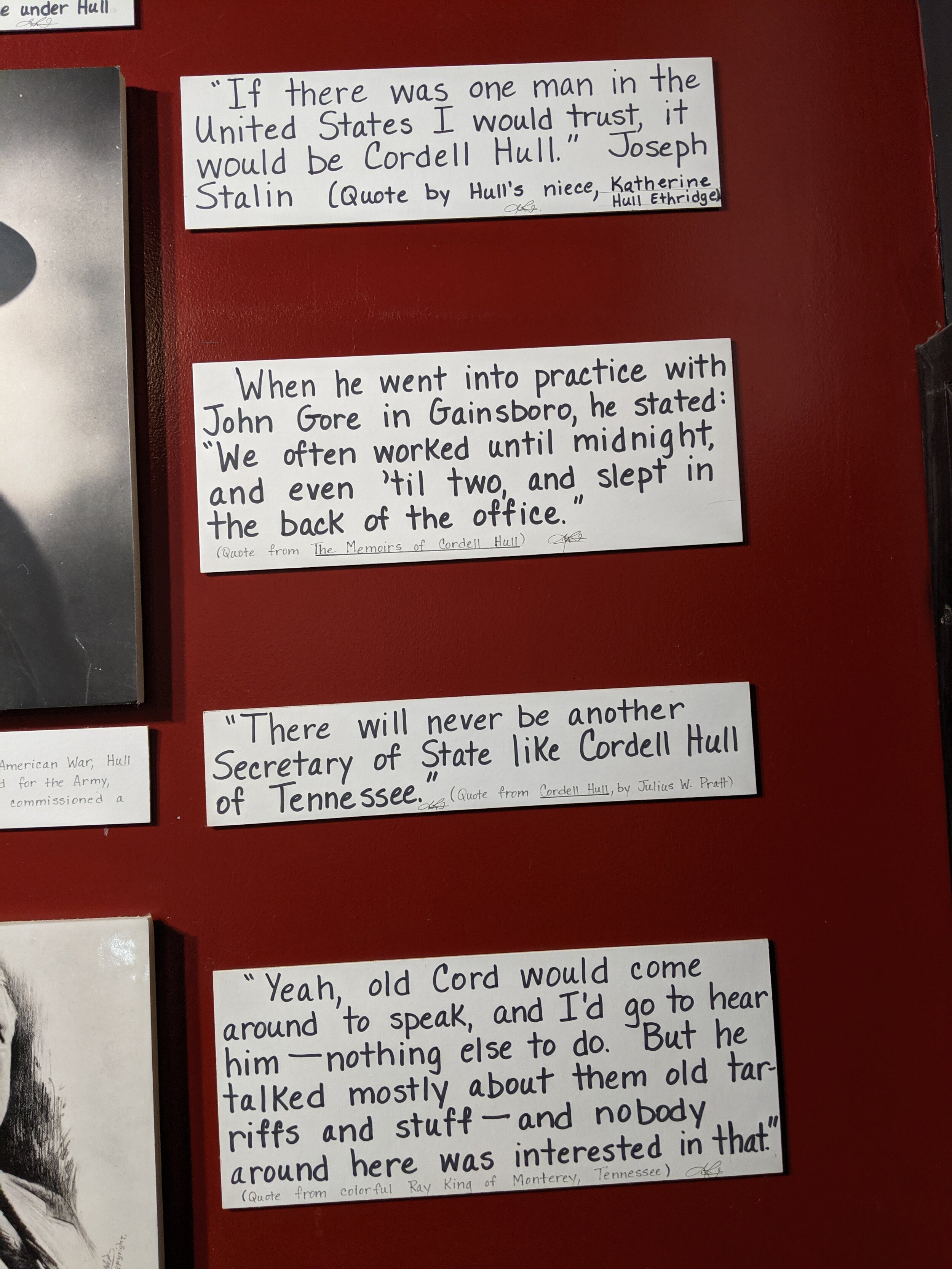 Loved these quotes about Cordell Hull.