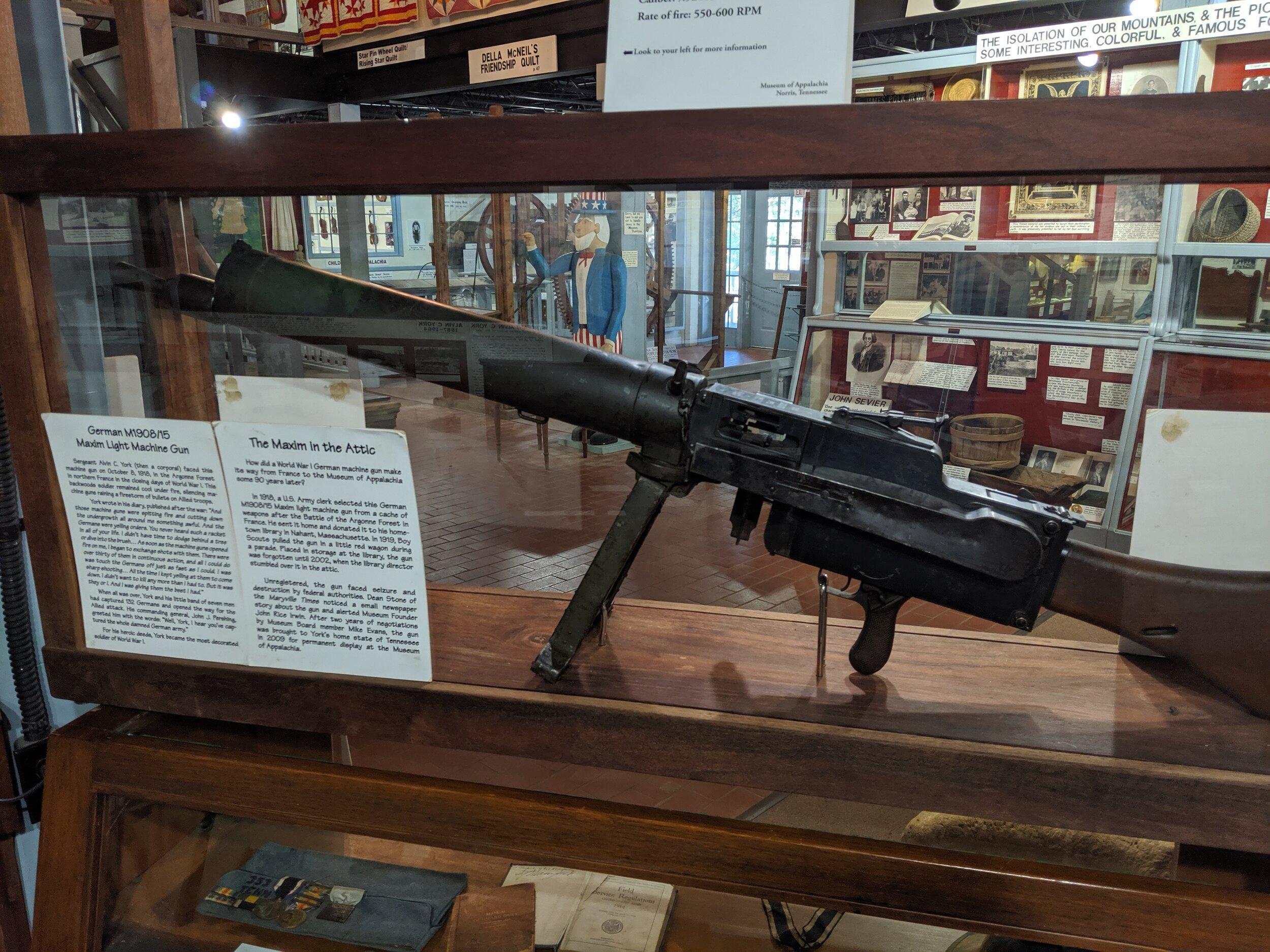 Here's a WWI German machine gun.