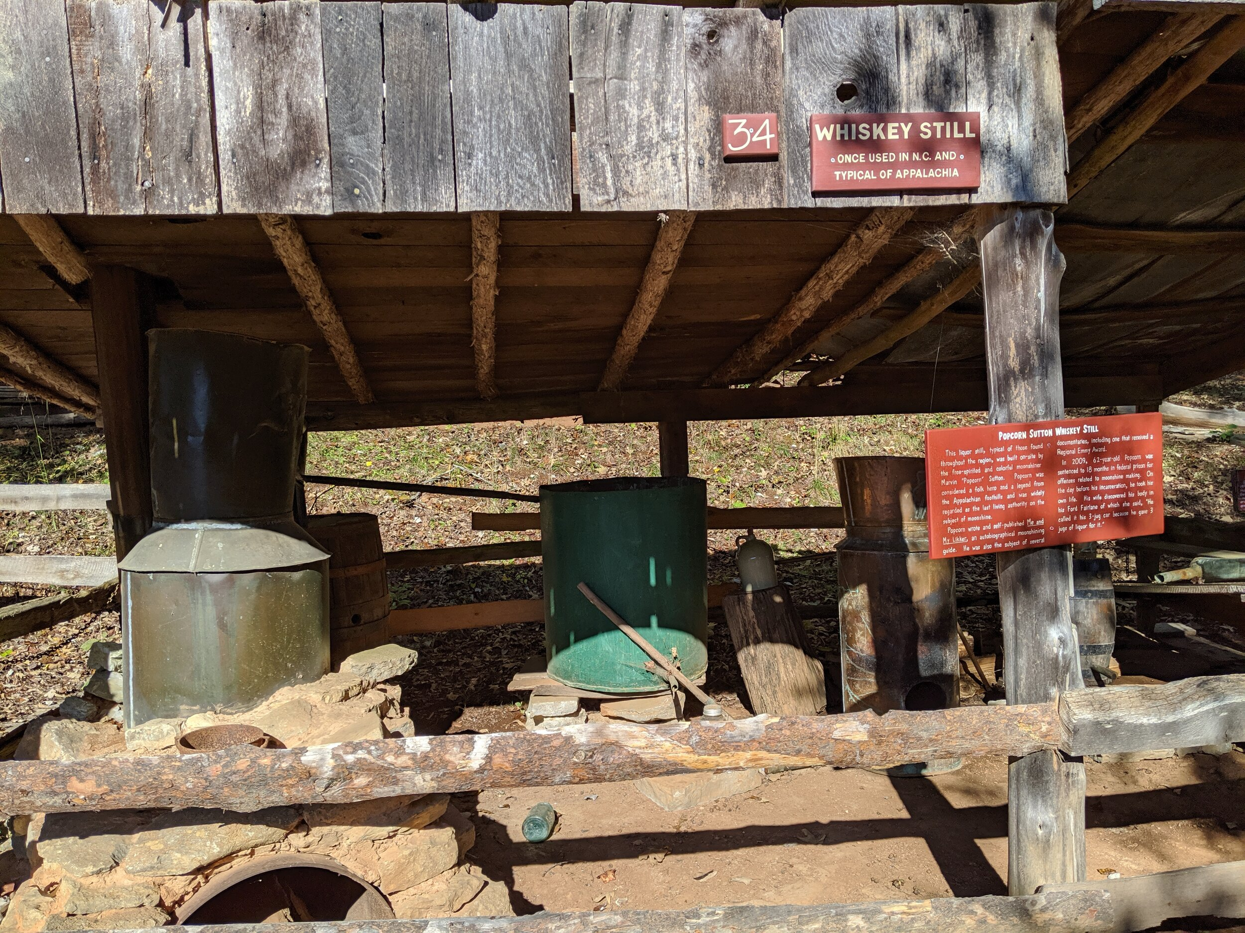 Here's an old moonshine still.