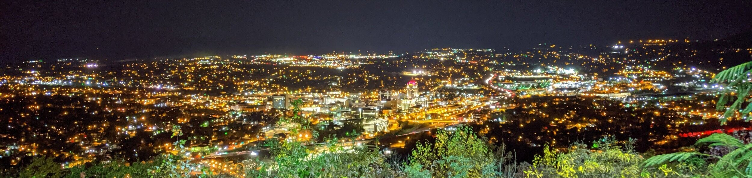 The view of Roanoke below.