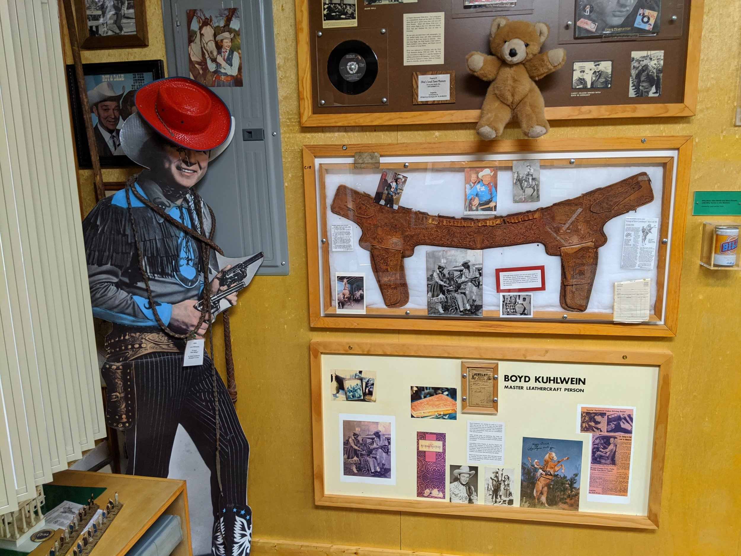 Roy Rogers worked in the town at the local cannery. He got fired for always singing on the job…