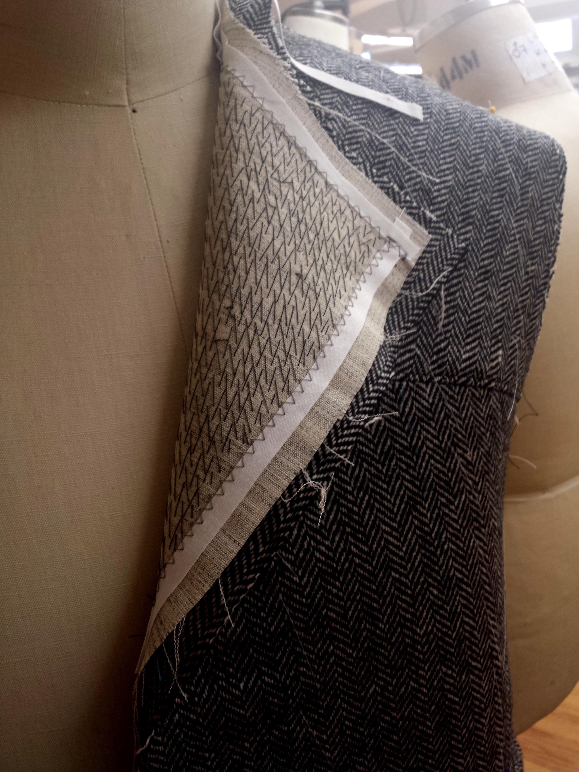 Pad stitching