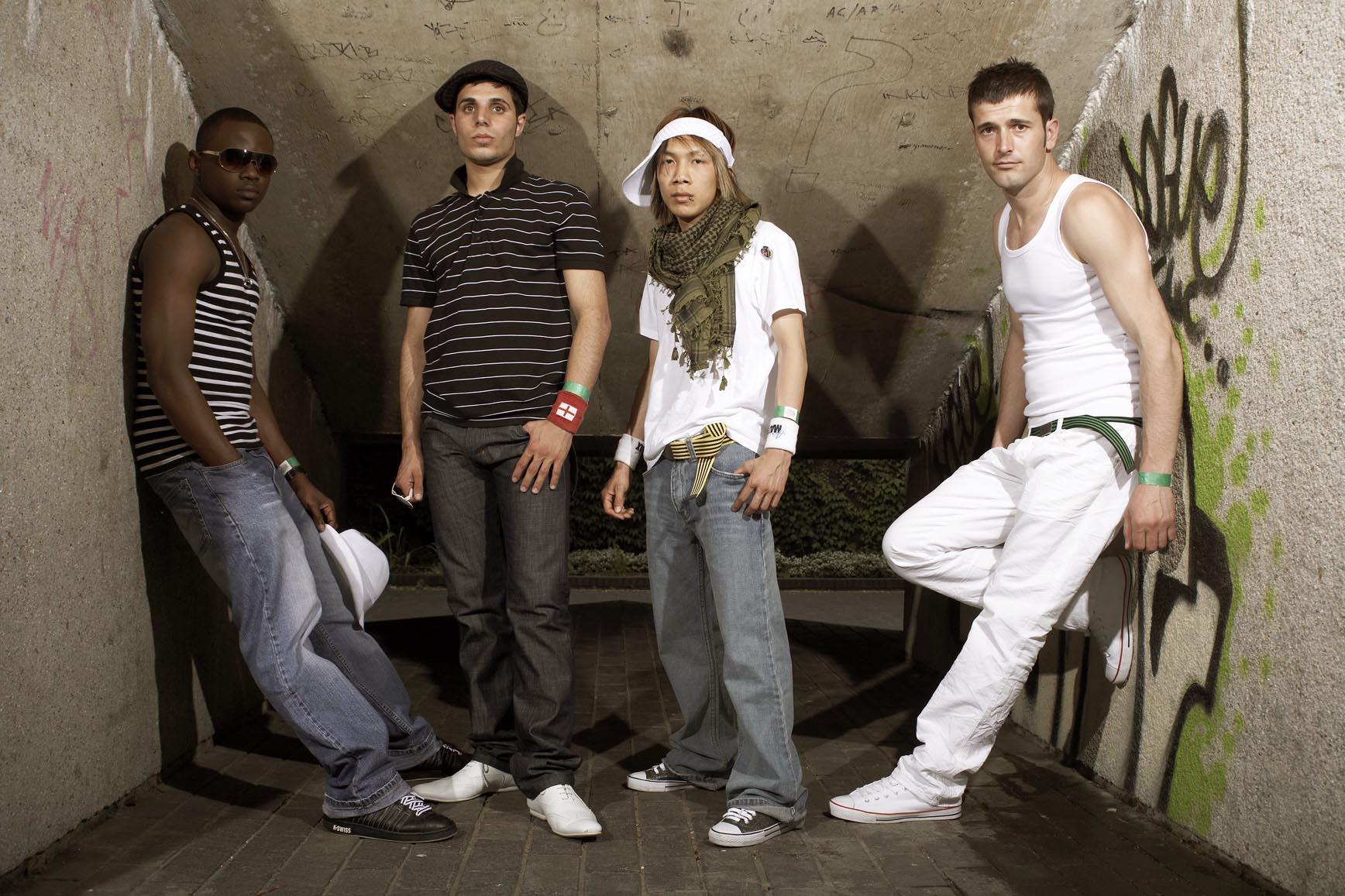 The Fame Asylum members: David, Saeed, Long, and Aaron