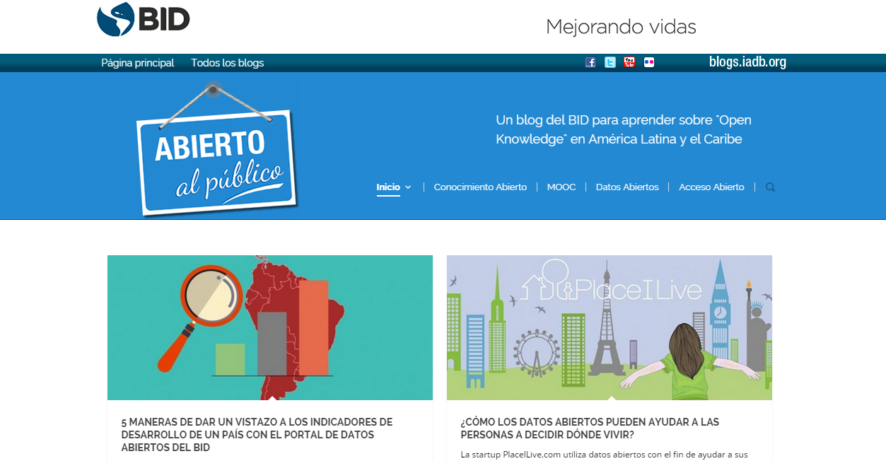 """ES  >   EN translation and EN editing of blog posts for """"Abierto al público"""", an Inter-American Development Bank blog focused on open data. (Click image to view translated blog post.)"""