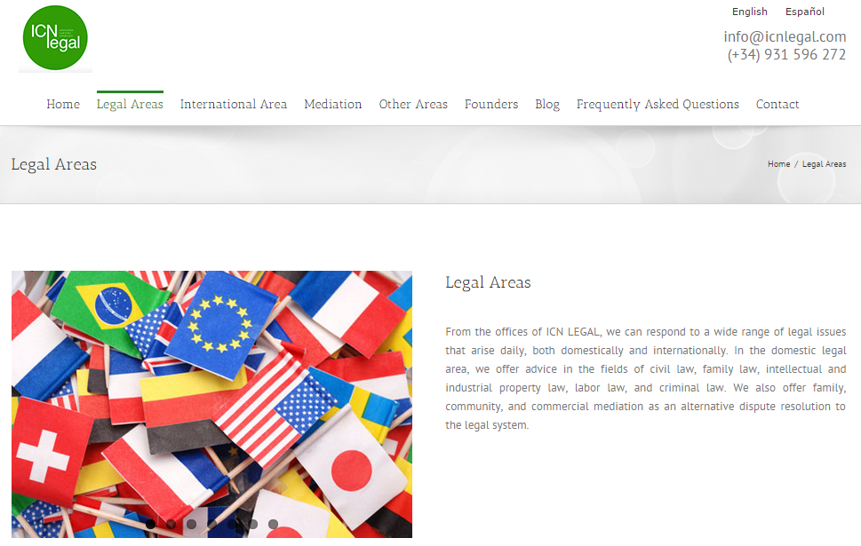 ES>EN t ranslation of legal documents and blog posts for ICN Legal, a law firm based in Barcelona, Spain. (Click image to view translated blog post.)