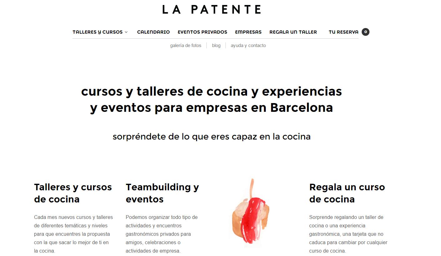 ES/CA>EN translation of recipes for La Patente, a cooking workshop in Barcelona, Spain.