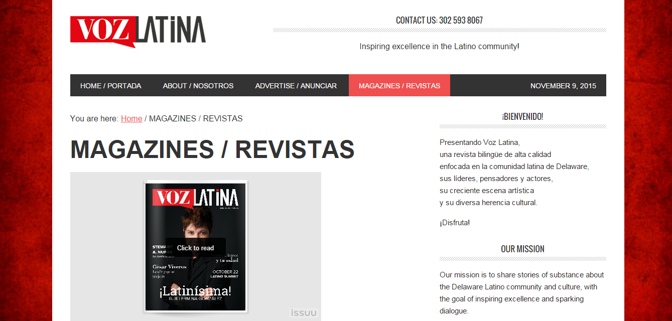 ES>EN translation of articles for  Voz Latina , a bilingual magazine for the Delaware Latino community.