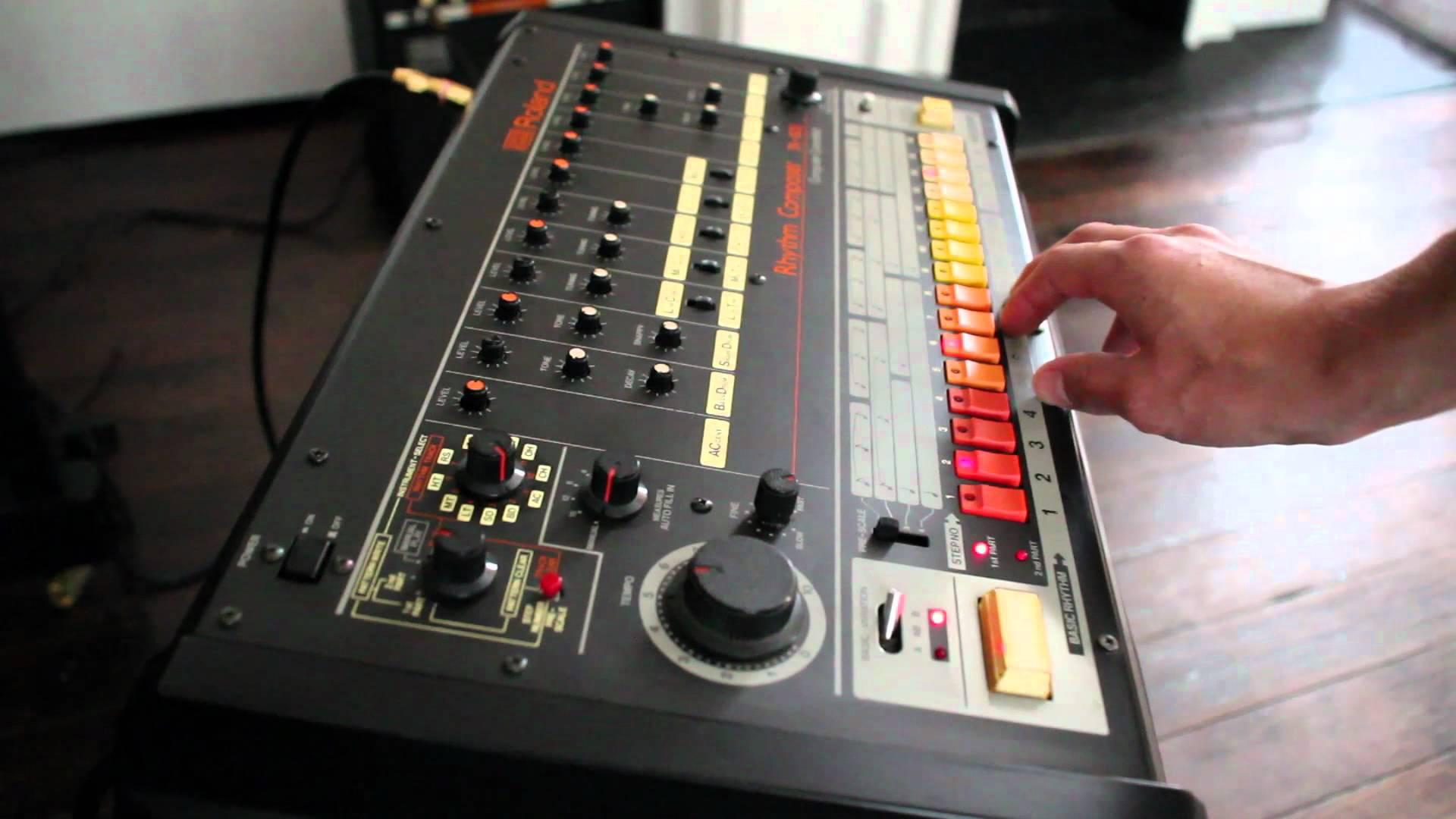 Original Roland's TR-808 (Transistor Rhythm) Drum Composer