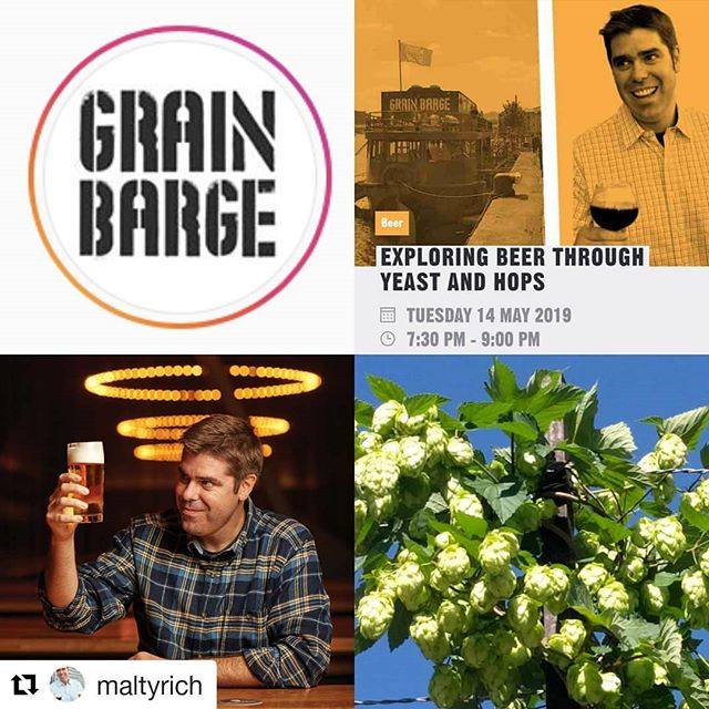 "#Repost @maltyrich (@get_repost) ・・・ Join me for ""Exploring Beer Through Hops & Yeast"" @GrainBarge in beery Bristol, UK, May 14th! Great tasting class to learn the secrets of these two mysterious ingredients in beer. Ticketing link in bio."