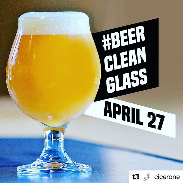 #Repost @cicerone (@get_repost) ・・・ #BeerCleanGlass day is this Saturday! Share your photo of a beautifully poured pint in a beer clean glass to give thanks to bars, taprooms, and restaurants who are taking the time to provide great beer service! . . Every good #BeerSommelier knows the importance of a clean beer glass! Let's make it essential in every bar, pub and restaurant! . . . #beer #craftbeer #beerstagram #hoplife #craftbeerlife #Cicerone #CiceroneLife #BeerSommLife #beersomm #beersommelier #advancedcicerone #GBSmember #beerporn #beergeek #beertography #beereducator #beerwrangler #beereducatorlife  #beergeek #beernerd #beerlife #beerwrangler #beereducation #beercleanglass
