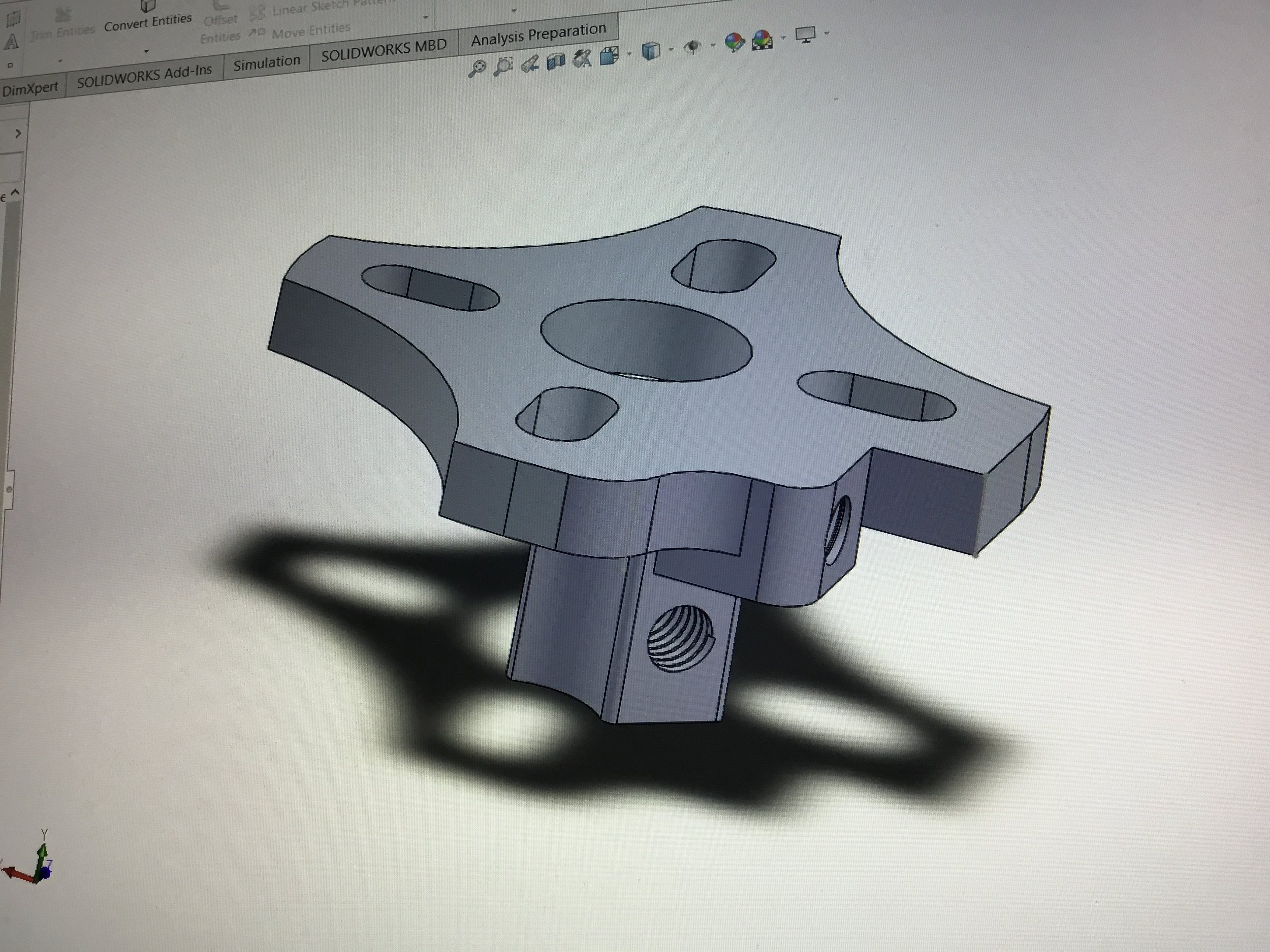 Meant to be machined out of aluminum.