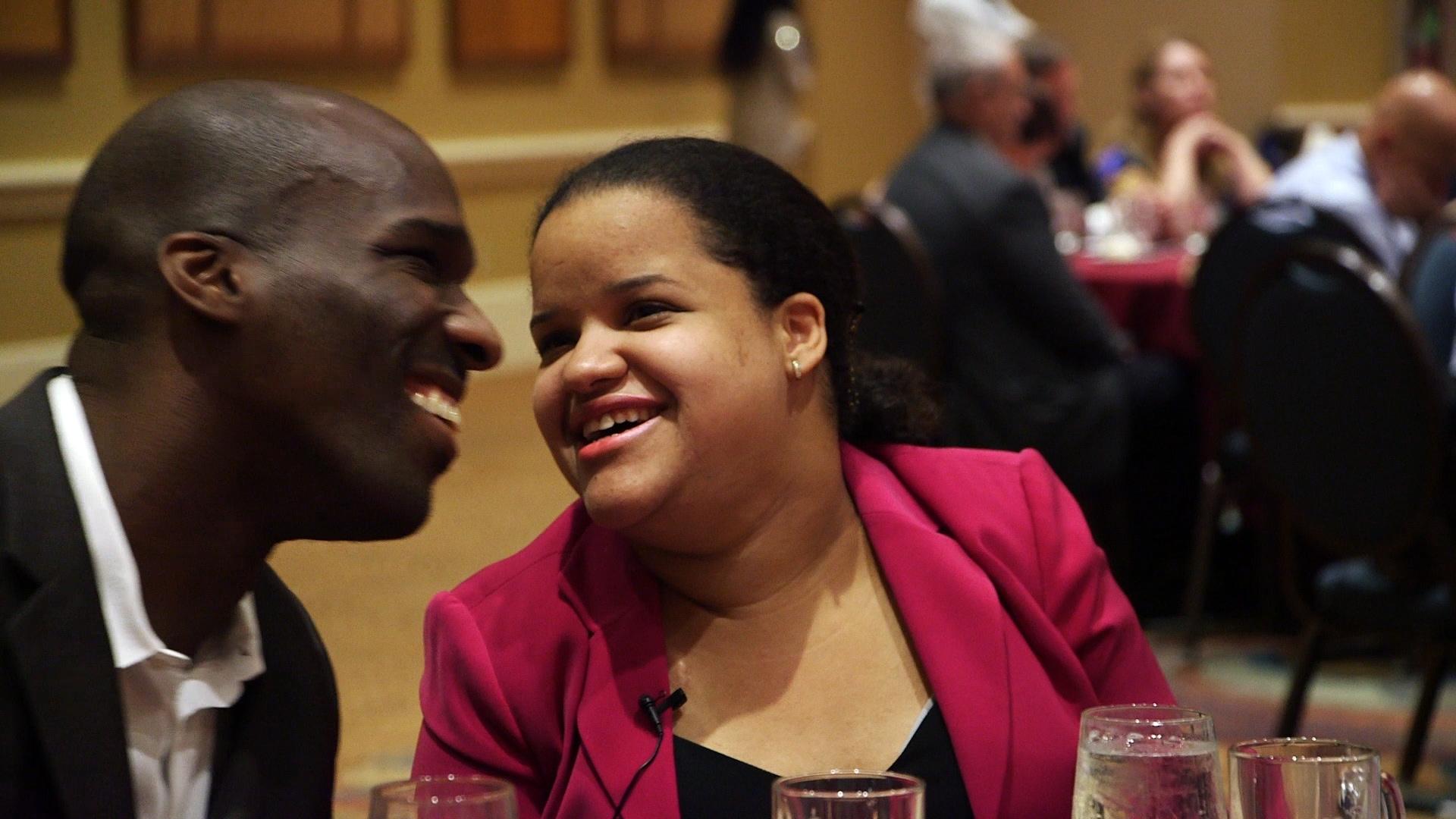 Romeo and Nef Flirting at NFB Banquet.jpg