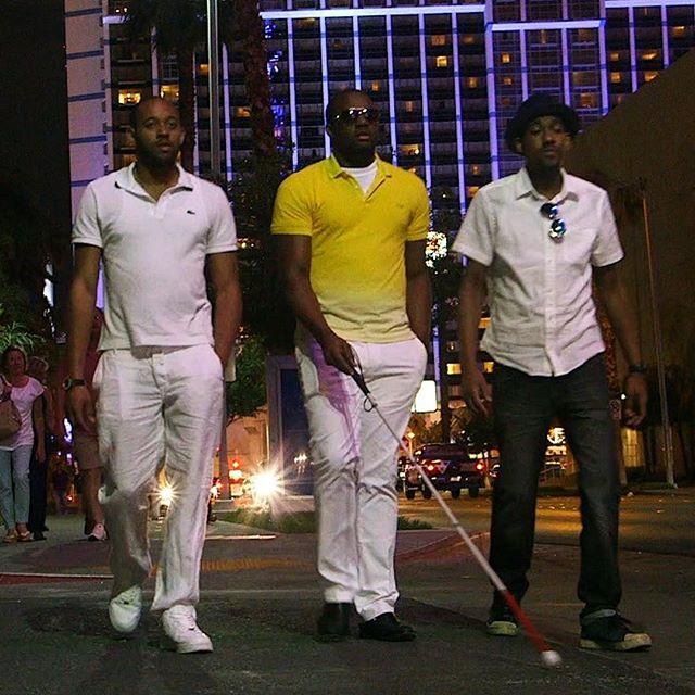 Anthony strolling down the Las Vegas Strip