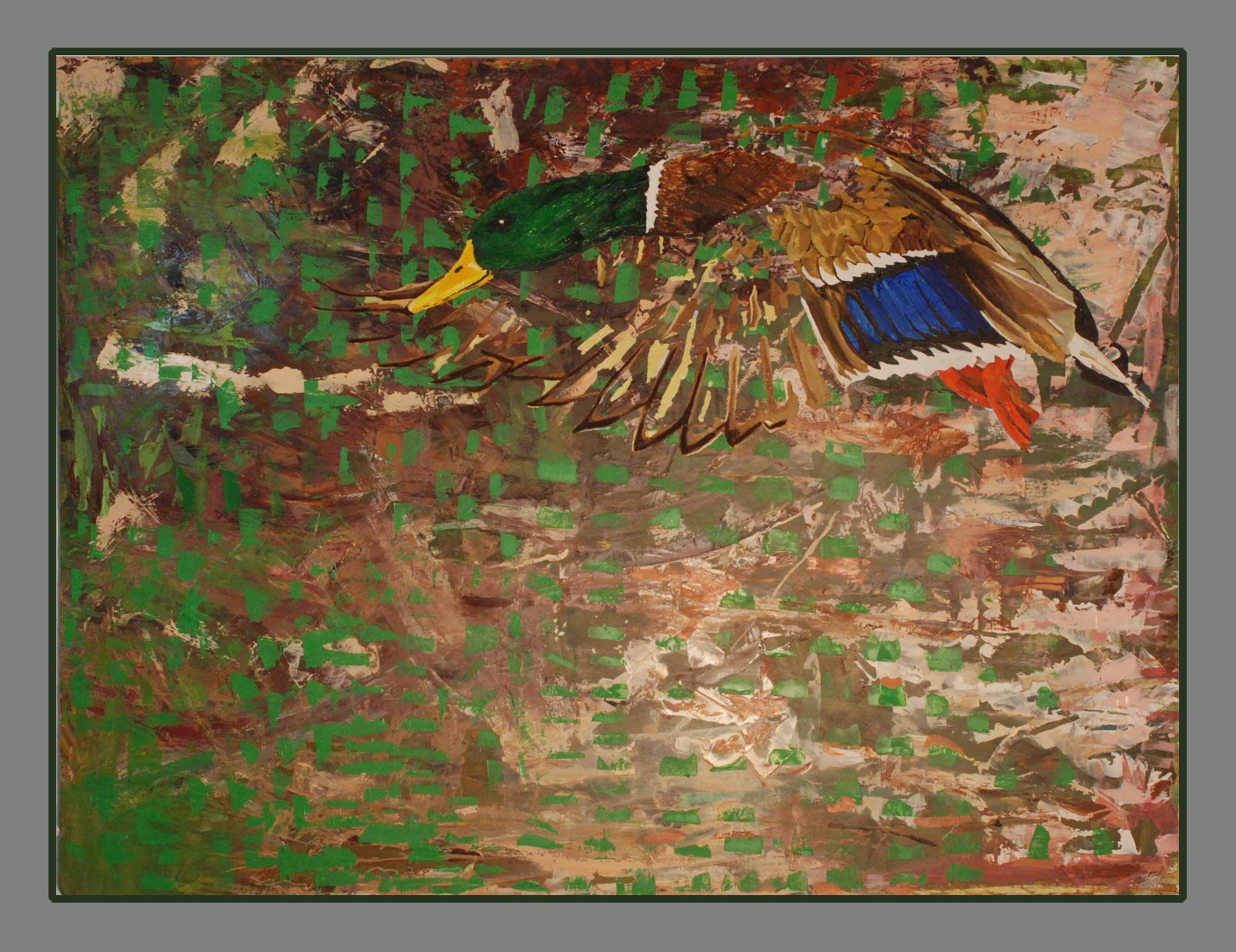 """Mallard, 30""""x40"""" oil on board, 2016"""