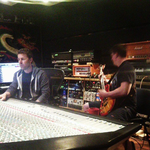 @darrengrahn is tracking guitars for the 3rd day with @cr4nksh4ft !