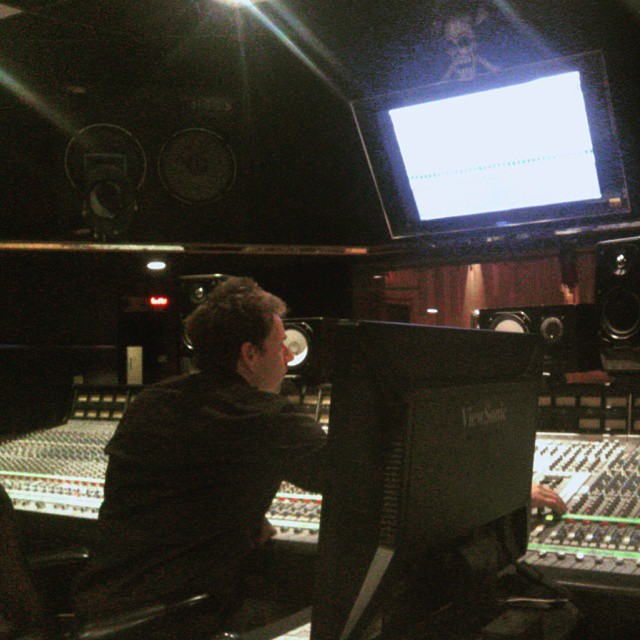@darrengrahn is in mixing @mobmachineband.  Sounding huge!