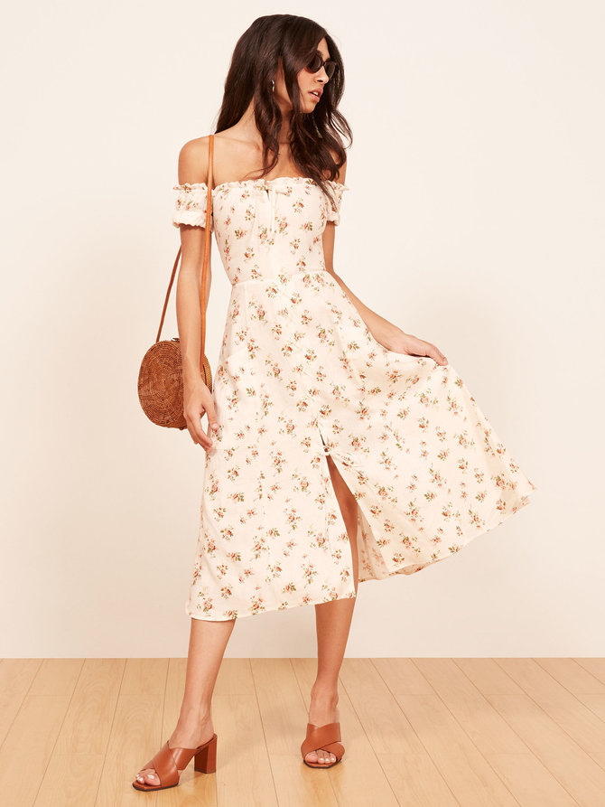 Eco-Friendly Floral Dresses Spring Reformation