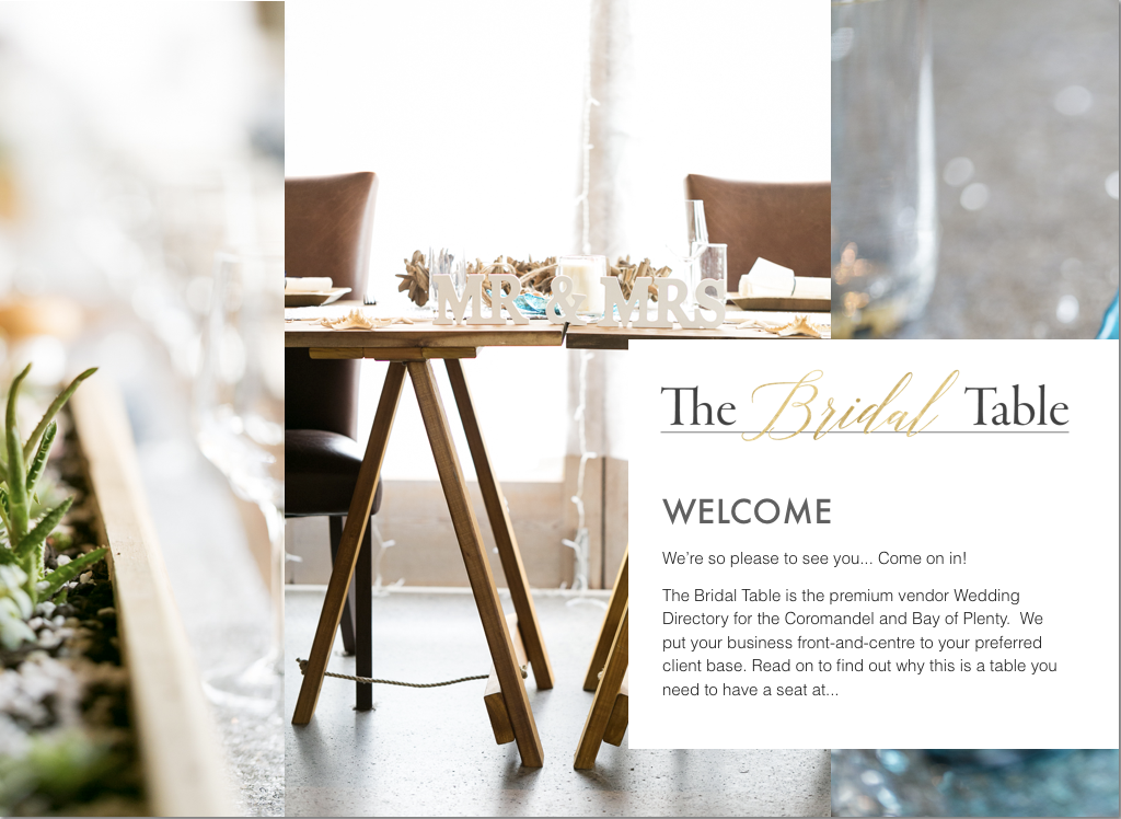 Download the Vendor Information Handbook. - If you would like more information about becoming listed with The Bridal Table, you can download our Vendor Listing Information Handbook.