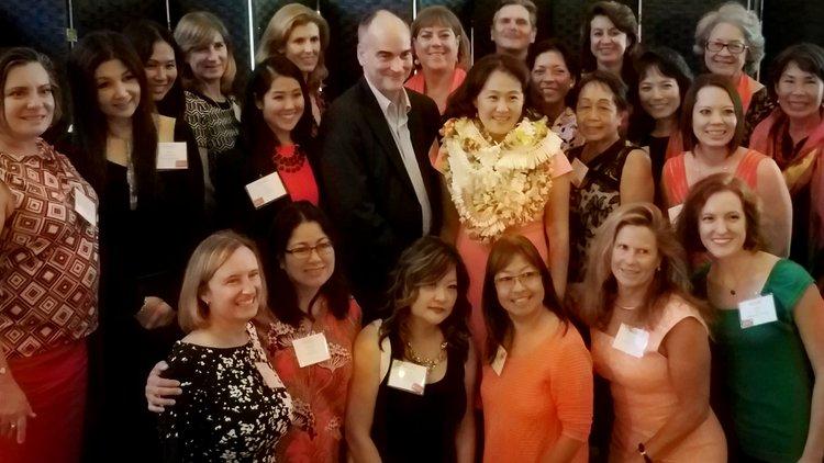 Women Who Mean Business Honoree, Noriko Namiki, CEO of YWCA O'ahu and the YWCA Team.