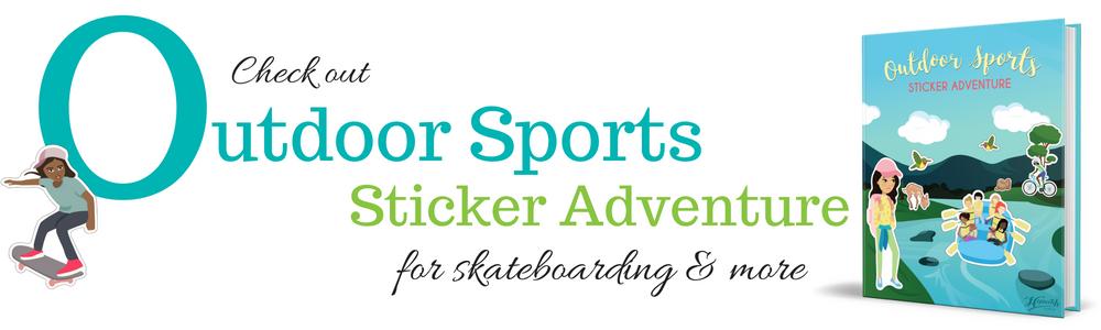 Outdoor Sports Sticker Adventure - Skateboarding.png