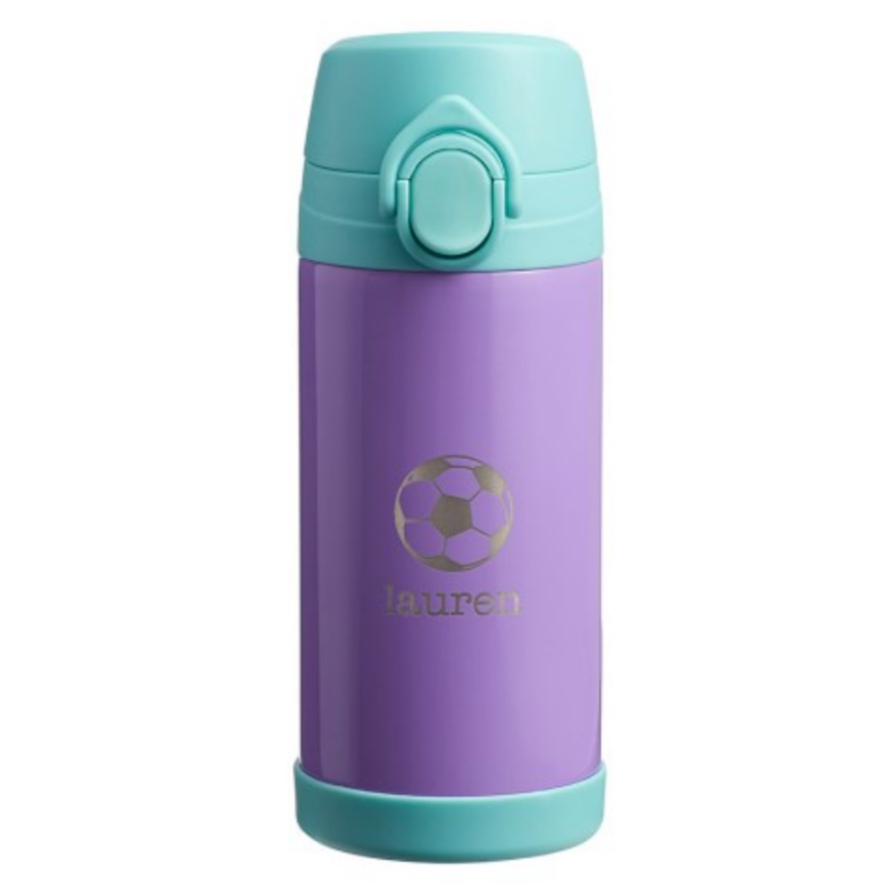 Mackenzie Lavender Aqua Trim Solid Regular Water Bottle