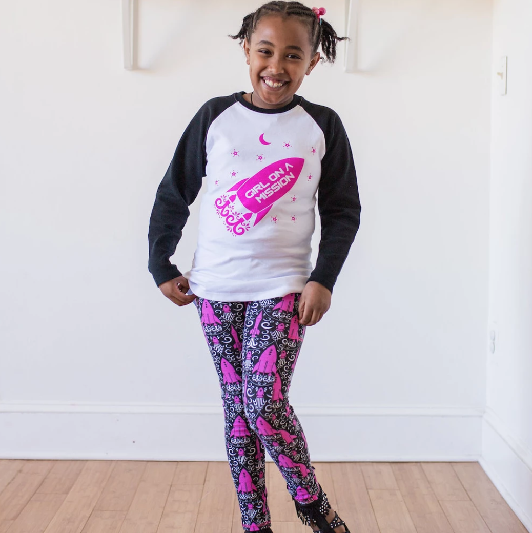 """Fleur-de-Lift-Off� Rockets Leggings with Pockets"