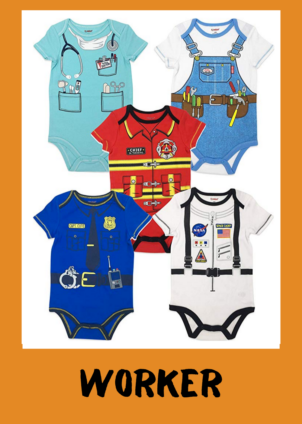 Doctor, construction worker, firefighter, police officer or astronaut   for $17.99 & up (set).