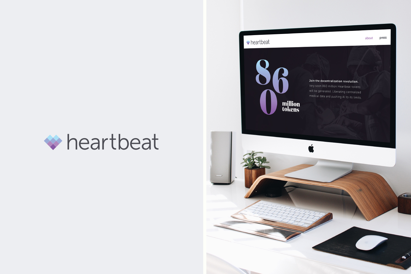 Heartbeat logo and website