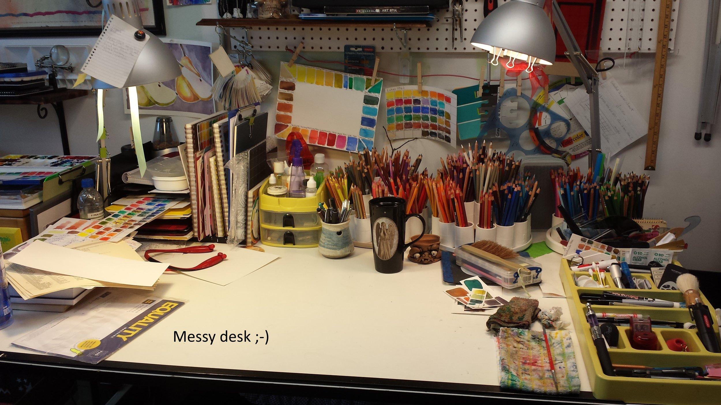 Ali C's Messy Desk