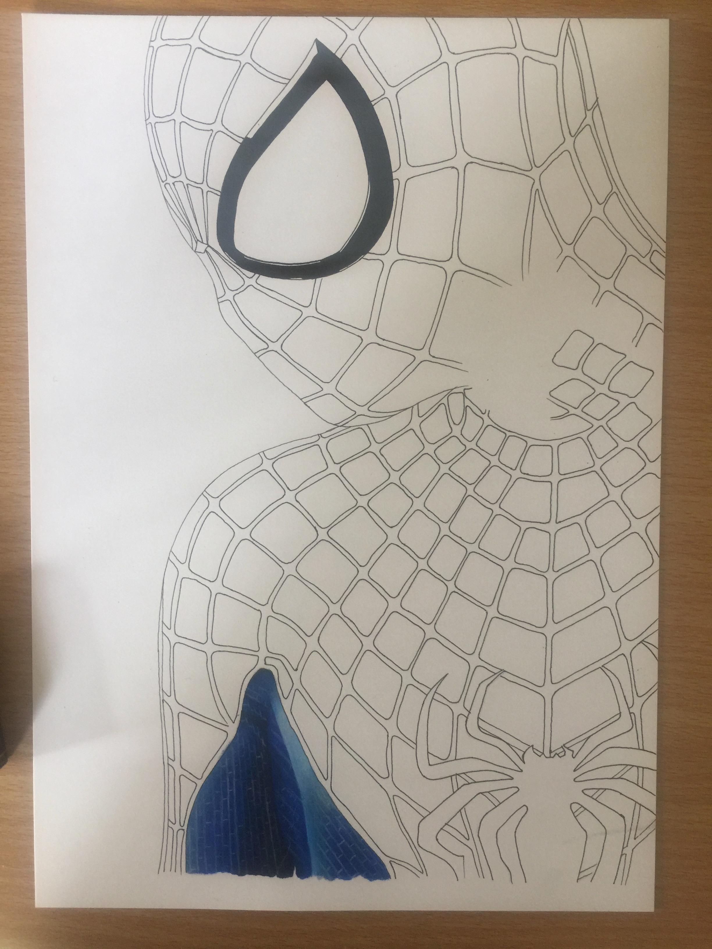 Spiderman Line Work