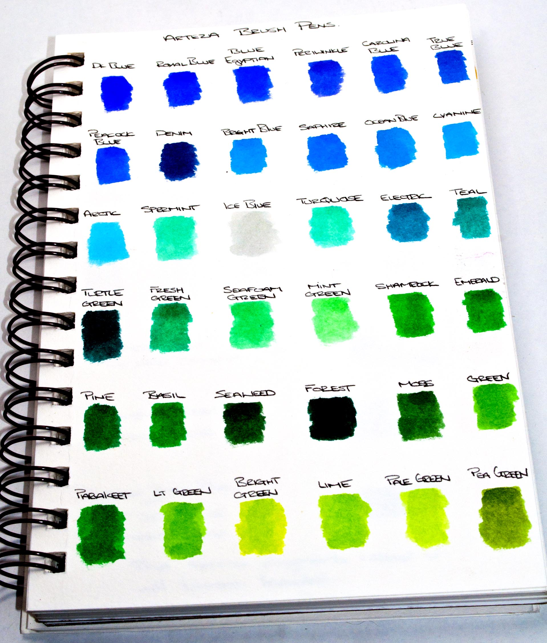 ARTEZA Real Brush Pens 96 Colours for Watercolour Painting with 96 colors