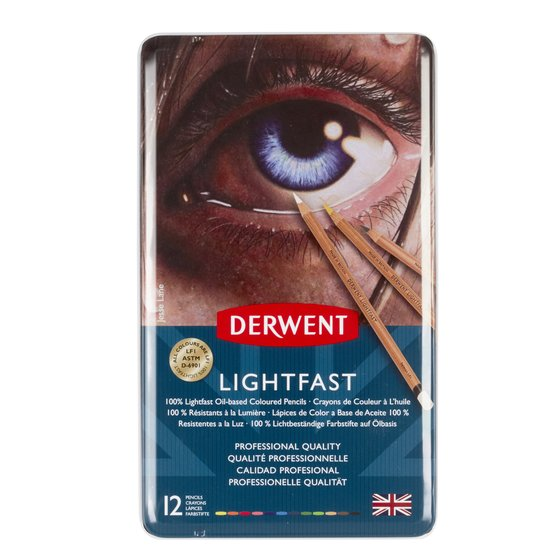 comes in 72 tin Derwent Lightfast Coloured Pencil set of 36 additional colours