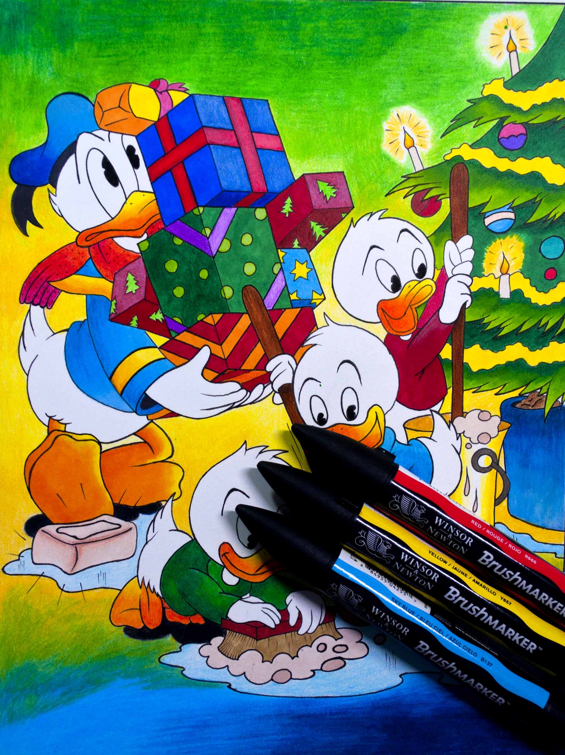 Donald duck Final Image with markers.jpg
