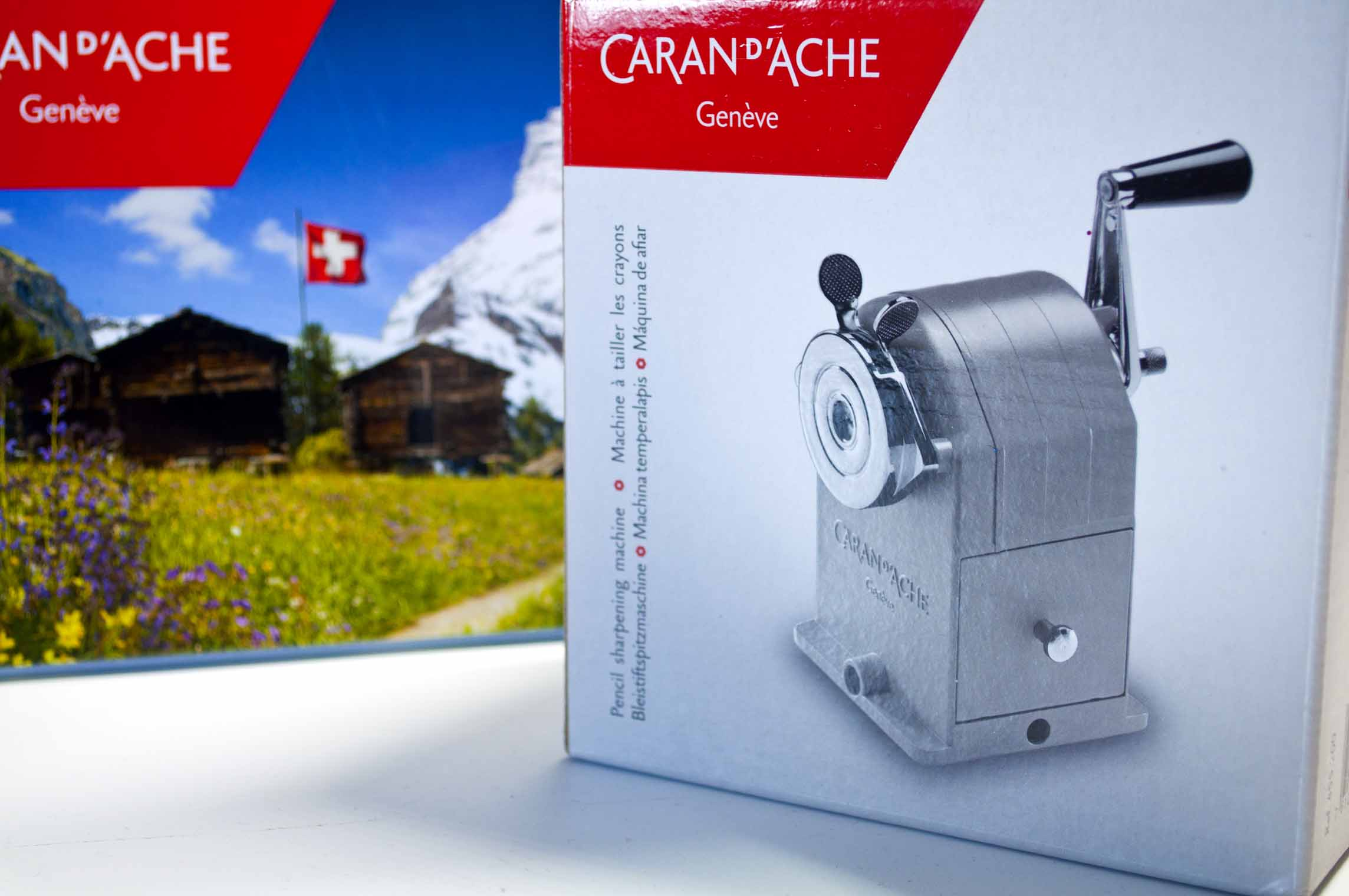 Front Of Caran d'Ache Sharpener Box