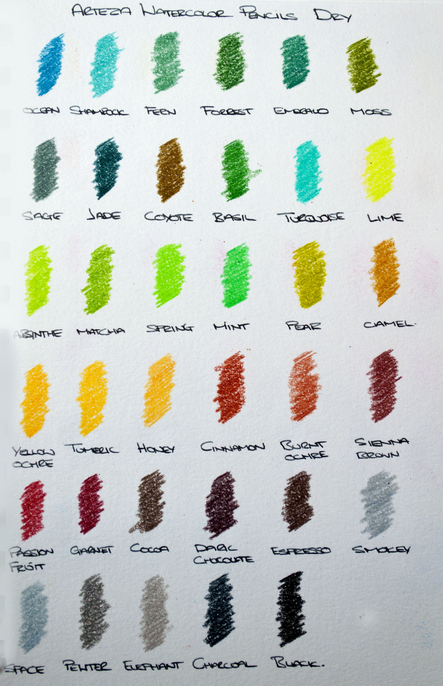 Arteza Watercolor Swatch Dry 2nd Page.jpg