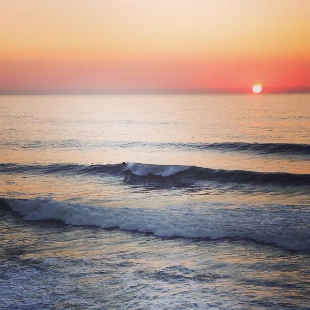 Sunset surf @eutrup