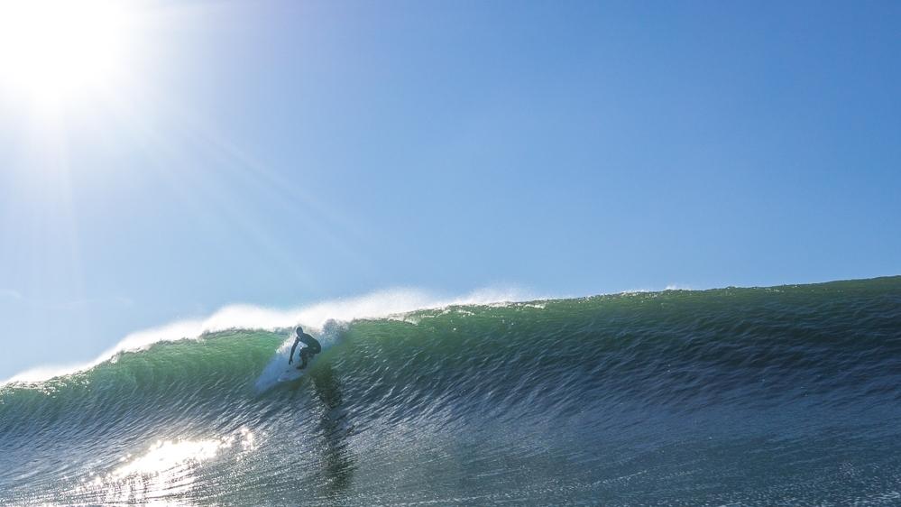 Kolohe Andino coming in hot, Ocean Beach
