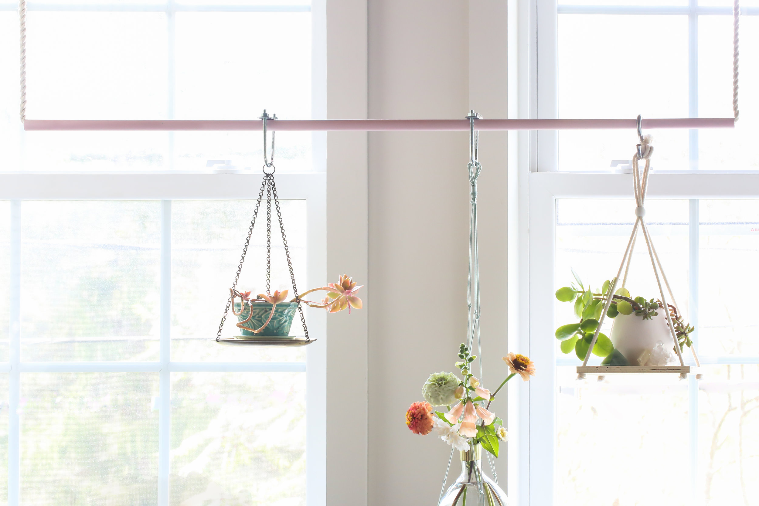 janet crowther diy hanging plant bar