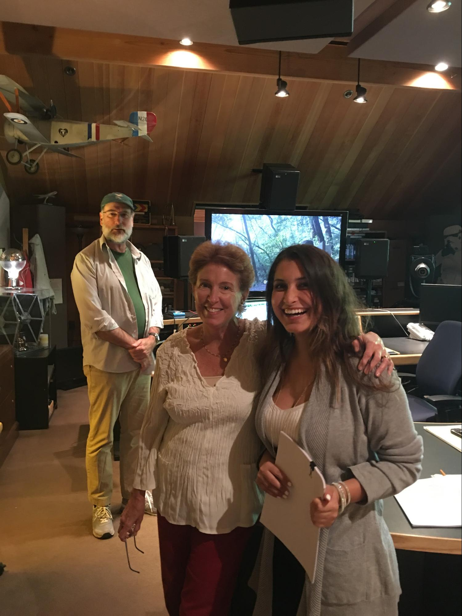 Larry Oatfield, Laurel Ladevich, Jacqueline Monetta at Skywalker Sound