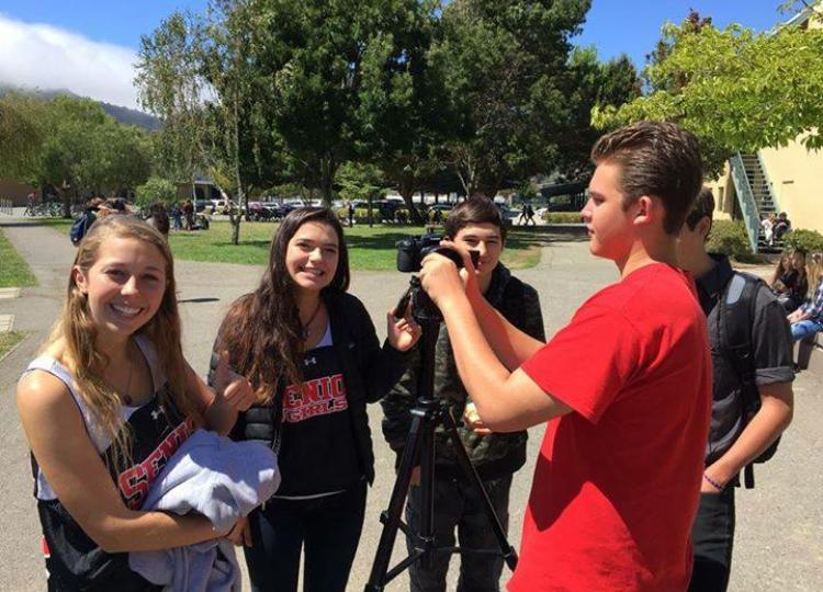 Redwood TV crew: Kim Vela, Annie Forsman, Garet Jasek, Sam Slade