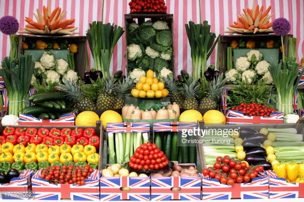 Photo by Christopher Furlong/Getty Images News / Getty Images  Imagine walking into a supermarket and seeing this work of food art!