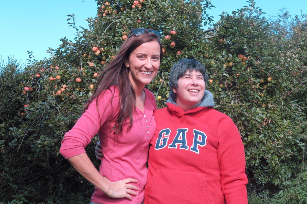 The apple of my eye, my sister Pip.