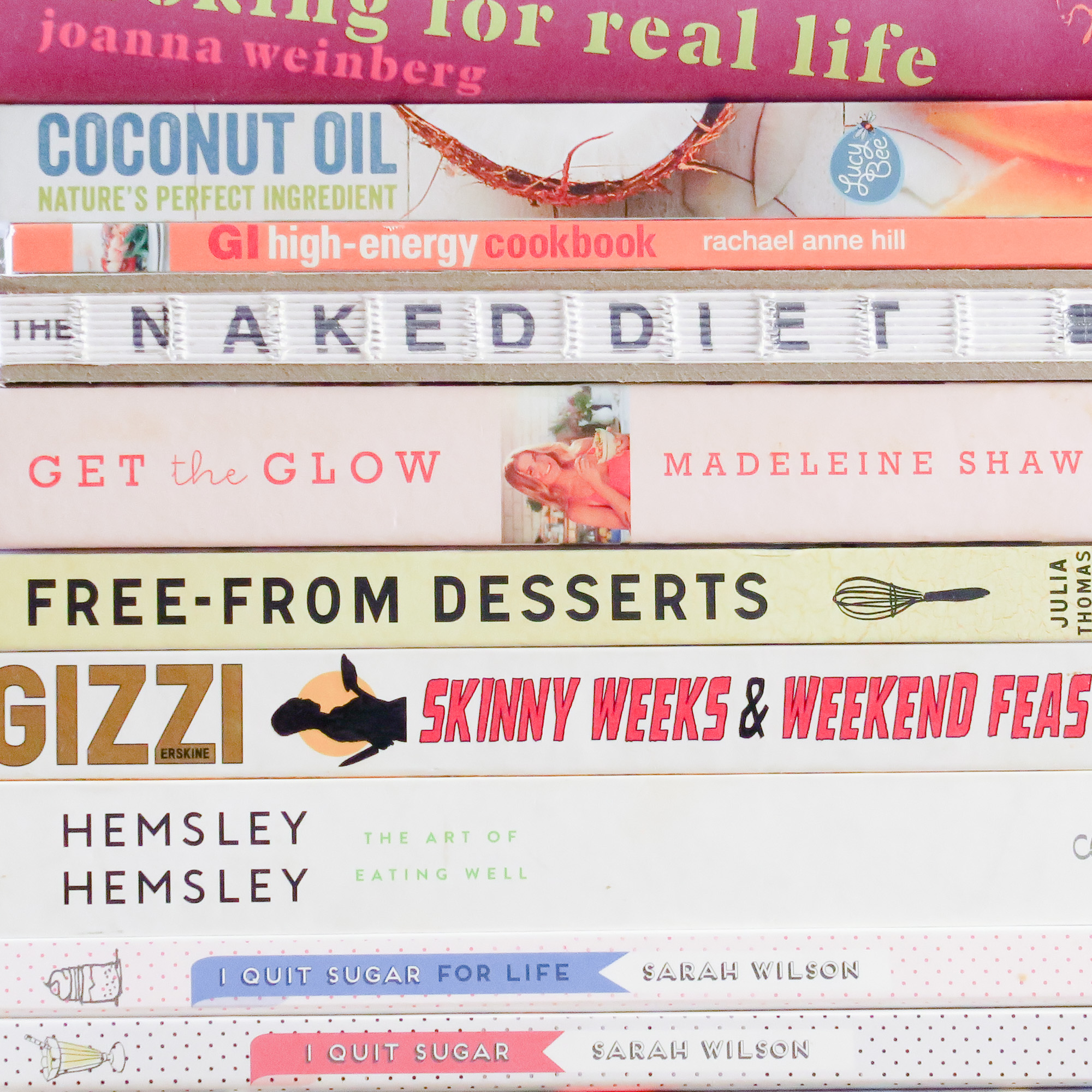 Seemingly healthy cookbooks, but no longer on brand.