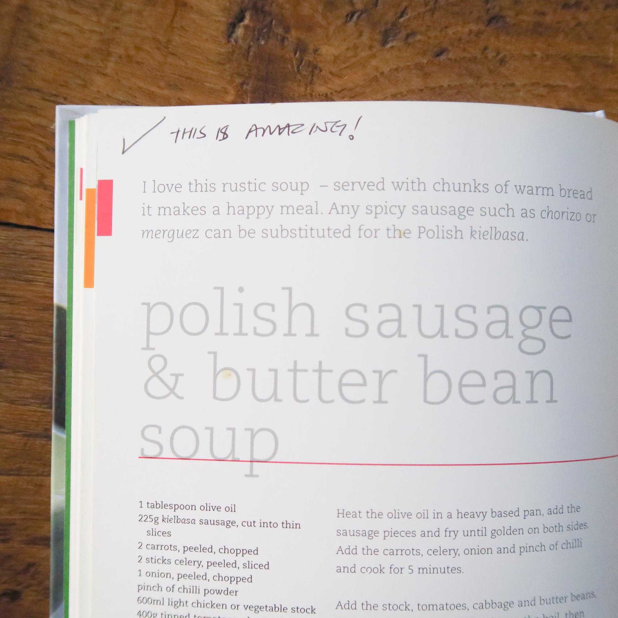 Polish sausage, amazing? Who even was I?!